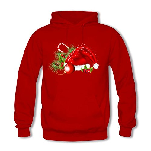 shanguo Women Sweatshirt Hoodie Funny Santa Claus Gift Top Pullover Outwear Jacket L