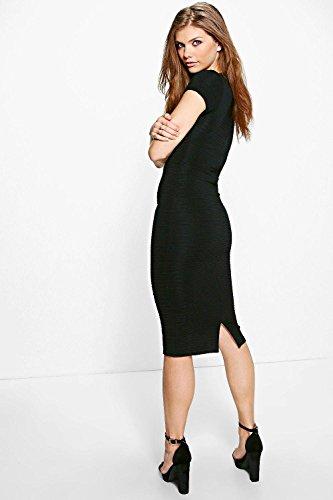 Femmes olive Tall Lea Robe Midi En Tissu Bandage À Décolleté Plongeant Olive