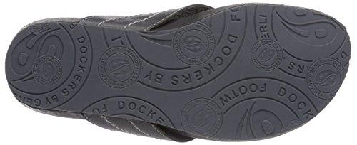 Dockers by Gerli 36BR001-120930 Unisex-Erwachsene Pantoletten Schwarz (schwarz 100)