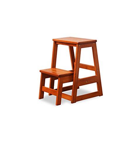 Popa Chaise Pliante Escabeau en Bois Massif Tabouret Chaise/ménage échelle en Bois à Deux étapes/Double Tabouret Pliant Cuisine Tabouret échelle Tabou