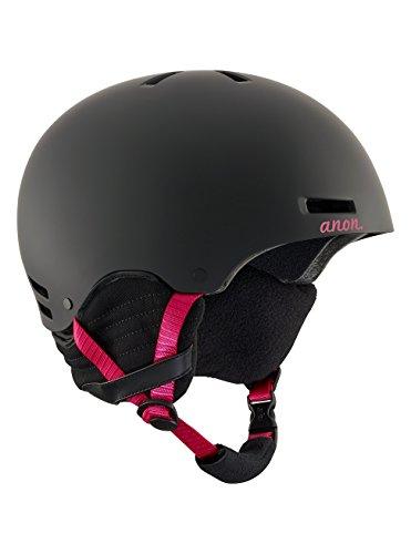 Anon greta, casco snowboard donna, black cherry, m