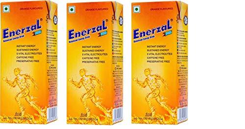 Buy Enerzal Energy Drink Orange Flavour Liquid (Tetra Pack