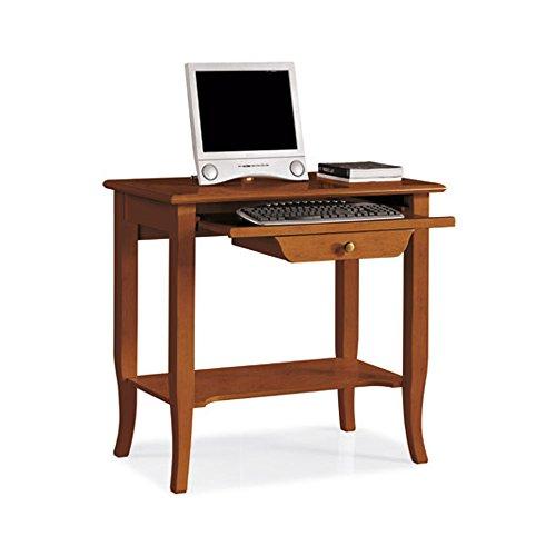 Scrittoio, stile classico, in legno massello e mdf con rifinitura in noce lucido - mis. 85 x 49 x 79