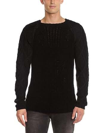 Gaspard yurkievich - pull - piqué - homme - noir (black) - m