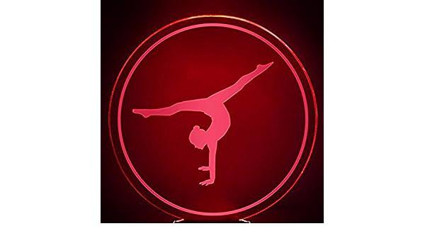 FISSEN 3D la gymnastique d'art LED Lampe Lumière de Nuit