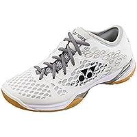 Yonex Zapatillas de Squash y Bádminton de Material Sintético para Hombre Blanco Blanco/Gris