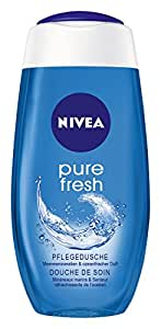 NIVEA 4er Pack erfrischendes Duschgel, 4 x 250 ml Flasche, Pure Fresh