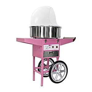 Royal Catering - RCZC-1200E - Machine à barbe à papa - sur chariot - avec bulle - 1200 W