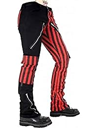 Black Pistol Freak Pants Stripe Black-Red