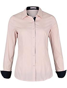 Danaest - Camisas - corte imperio - Rayas - Clásico - Manga Larga - para mujer
