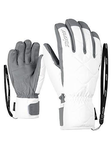 Ziener Damen Krista AS(R) AW Lady Glove Ski-Handschuhe/Wintersport, Wasserdicht, Atmungsaktiv, White, 7