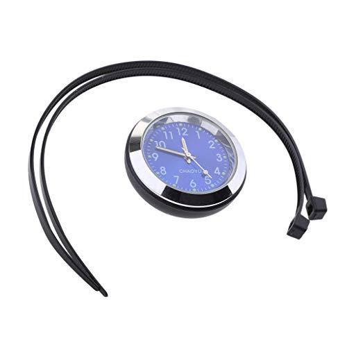 Sharplace Hochwertige Motoraduhr Fahrrad Lenker Uhr, einfach instaliert - Blau