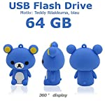 16GB Novelty Cute Cartoon Sitting Brown bear USB Flash Key Pen Drive Memory Stick Gift UK