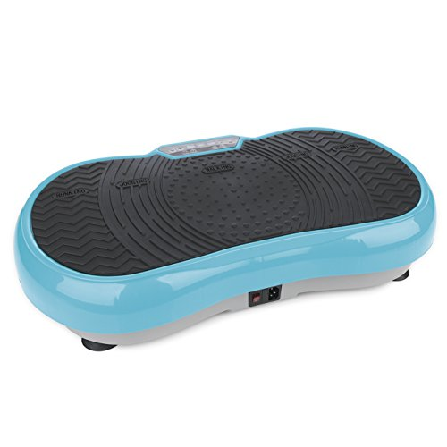 VITALmaxx 07125 Vibration Plate, Profi Vibrationsplatte inkl. Trainingsbänder, 99 Stufen Power Vibro Technologie, Profi Vibrationsgerät mit rutschsicherer Trainingsfläche, LCD Display & Fernbedienung