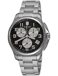 SWISS ARMY OFFICER'S HOMME 43MM CHRONOGRAPHE DATE MINÉRAL VERRE MONTRE 241455