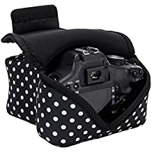 USA Gear Funda de Cámara Digital / Estuche Semipermeable para Cámara Reflex / Bolsa Protectora DSLR para Nikon D3300 D750 D5300 D5500 Canon EOS 1300D 100D 700D 750D Pentax K50 , Accesorios y