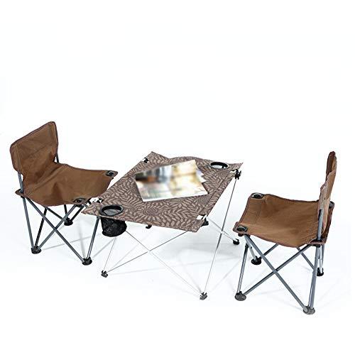 Haushalt, Möbel (JKL- Notebookständer Outdoor Klapptisch Und Stuhl Set Wild Tragbare Grill 3-7 Stück Set Haushalt Aluminium Tisch Und Stuhl Kombination (Color : A - 1 Cloth Table+2 Chairs))