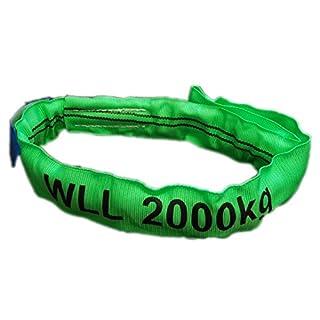 aruma Rundschlinge Polyester (Einfachmantel) - Tragfähigkeit 2000 KG / 2 Tonnen - verschiedene Umfangslänge / Nutzlänge verfügbar (Umfangslänge 2,0 m / Nutzlänge 1,0 m)