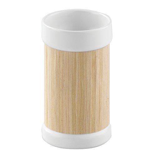 interdesign-90550eu-realwood-gobelet-pour-plan-de-travail-de-salle-de-bain-bois-blanc-604-x-604-x-10