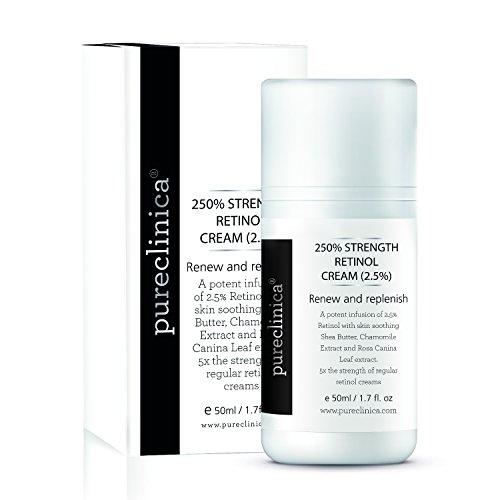 250% Stärke Retinol-Creme - 50ml Wirksame Anti-Ageing Creme, mit 2.5 x mehr aktiven Inhaltstoffen als die Konkurrenz - SKU:RETCRE50