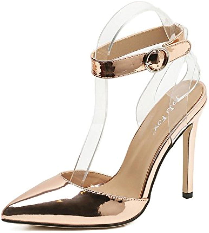 Donna Donna Donna Sexy sandali Stiletto alto Tacco singolo Scarpe appuntito Dito del piede Caviglia Cinghia Fibbia Trasparente... | Nuovo mercato  40a565