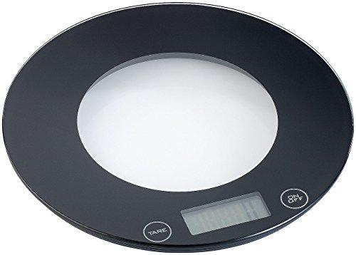 Rosenstein & Söhne Feinwaage: Digitale Küchenwaage aus Glas mit Touch-Buttons (Digitale Feinwaagen)