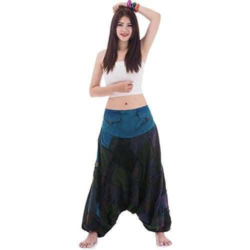 Patchwork Hippie Hose Haremshose Aladinhose Pumphose für Damen -