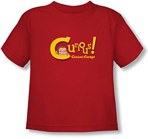 Curious George - Kleinkind Neugierig T-Shirt, 3T, Red