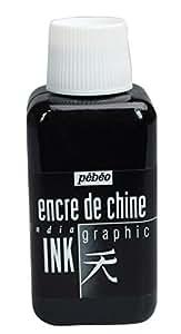 Pebeo 250 ml Graphic India Ink, Black