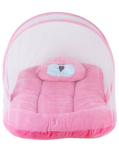 Besties Soft Velvet Baby Bedding Set (Pink, 0-12 Months)