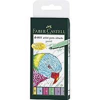 Faber-Castell 167162 Pitt artist pen - Rotuladores (6 unidades, grosor B)