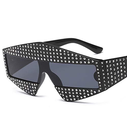 Hjyi Metall-Einlagen künstliche Diamanten Konvertite Tabletten Sonnenbrillen für Damen Polarisierte Aluminiumlegierung Rahmen Sonnenbrille Mode Fahren Sonnenbrillen UV400 Gläser
