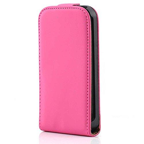 HSRpro Flip Hülle für Apple iPhone 3G - iPhone 3GS - Schutzhülle Cover Case Schutz Etui in Pink Iphone 3g Leder-etui