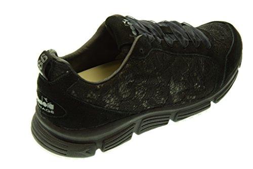 ... DIADORA HERITAGE donna sneakers basse 161931 01 80013 SYMBOL W LACE Nero 79dc7900762