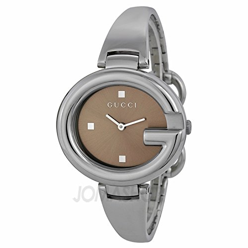 db50590a9a6 Gucci Gucci Piel Guccissima Brown Dial Acero inoxidable Acero Damas Reloj  YA134302