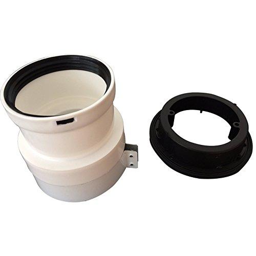 Ariston Thermo 3318369 Kit Adattatore 60/100-80 per fumisteria Caldaia a condensazione, Bianco