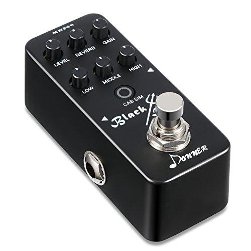 Donner Black Devil Mini Preamp Gitarre Elektrische Gitarre Vorverstärker Effektpedal