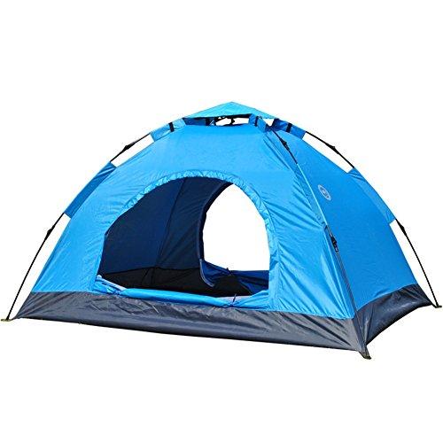 SANDM Outdoor-automatische zelte,Zelt für 2 personen Kuppelzelte Campingausrüstung DoppeltÜren Portable Mit tragebag Mit großen Öffnungen Fiberglas Bergsteigen-zelt-A 150x200x110cm(59x79x43inch)