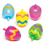 Baker Ross Kreisel 'Eier' für Kinder - Perfekt als Ostergeschenk oder als kleine Party-Überraschung für Kinder (6 Stück)