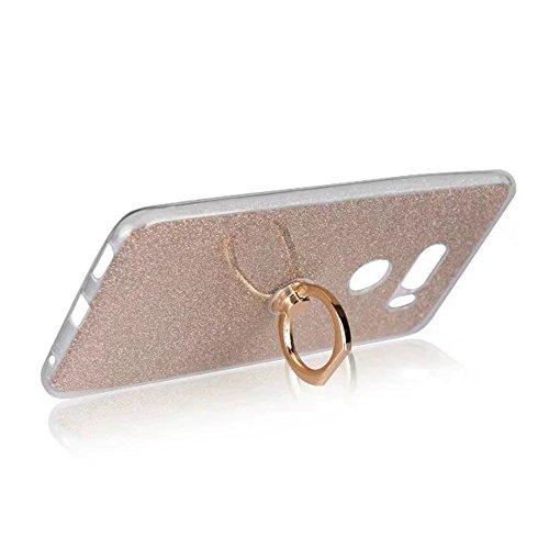 EKINHUI Case Cover Soft Flexible TPU Back Cover Case Shockproof Schutzhülle mit Bling Glitter Sparkles und Kickstand für LG V30 ( Color : Black ) Gold