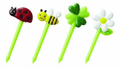 Von P Cute Pics (CuteZCute Bento Food Pick, 8-Piece, Honey Bee Flowers)