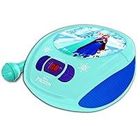 Disney Frozen - Reproductor Radio CD con Micrófono Incluido (Lexibook RCD108FZZ)