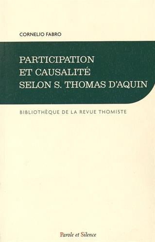 Participation et causalité selon S. Thomas d'Aquin