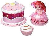 Cupcake Suprise 34661 - Geburtstagstorte Spielset, mit duftenden Muffin der sich in eine wunderschöne Prinzessin verwandelt, Torte verwandelbar in tolle Zubehöre, Puppen Set für Kinder ab 4 Jahre