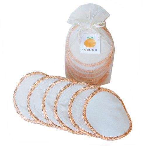 Satsuma Designs Lot de 6 coussinets d'allaitements lavables en tissu biologique