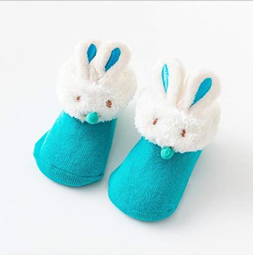 DCPPCPD Socken Kinder Babys Walking Silica Gel Slip-Proof Stock Socken Winter Warm Verdickung Lüftung Weichheit Komfort Midbarrel 0-1 Jahre Alt, 09.