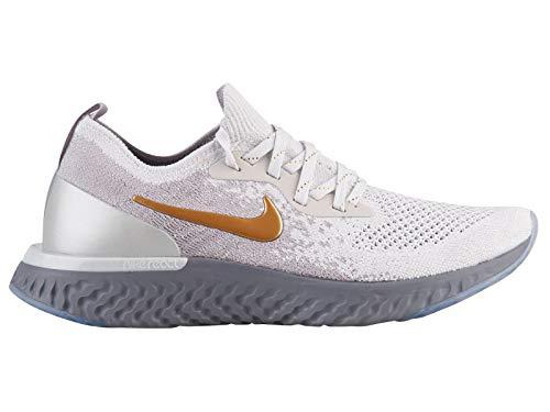 Nike Mujeres Epic React Flyknit Metallic Prem Running Trainers AV3048 Sneakers Zapatos (UK 6.5 US 9 EU 40.5