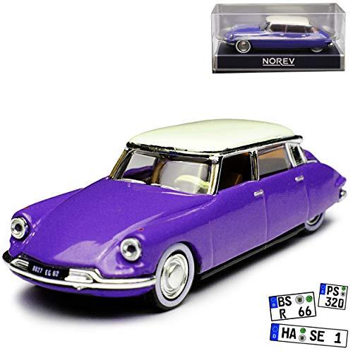 Norev Citroen DS19 Limousine Blau mit Weissem Dach 1955-1968 H0 1/87 Modell Auto - Citroen Modell