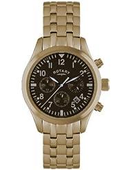Rotary Herren-Armbanduhr Chronograph Rotgold GB00109/16/B