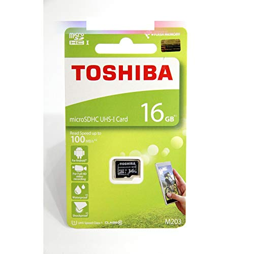 Toshiba Micro-SD-Speicherkarte M203 SDHC UHS1 U1 Class10 mit SD-Adapter (16 GB) (Micro-sd-32gb Toshiba)